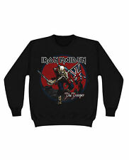 Men's Official IRON MAIDEN The Trooper Album Art Red Sky Sweatshirt Crew Neck