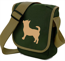 Chihuahua Dog Bag Dog Walkers Silhouette Reporter Shoulder Bags Birthday Gift