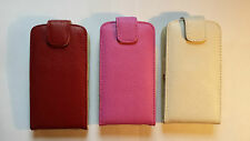 Genuine leather flip style case, cover to fit LG Joy H220 phone