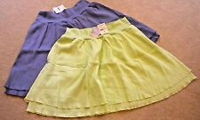 NWT FRESH PRODUCE Gauze Coastal Swing Skirt Periwinkle Blue / Lemon Green