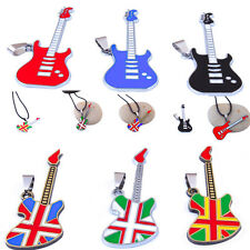 Fashion Stainless Steel Men / Women Guitar Charm Necklace Pendant Cool Gift Hot