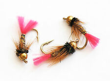Hares Ear Pink Tag Nymphs Wet Trout Fly Fishing Flies size options