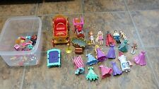 Polly Pocket Lot Figures Dresses Accessories Shoes Train Royal Carriage Disney