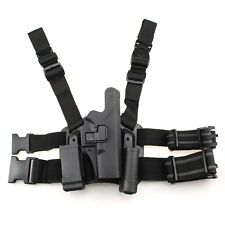 Tactical Leg Thigh Holster Right Hand w/ Magazine Torch Pouch for Glock 17 19 22