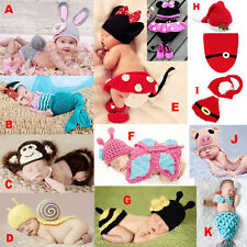 Newborn Baby Infant Aminal Knit Costume Photography Prop Crochet Beanie Hat Cap