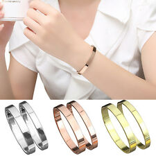 Men's Women's Copper Lover Polished Cuff Bangle Gift Bracelet Wristband Refined