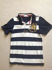 Boys JOULES Polo Shirt. T-Shirt. White/Navy Stripe. Age 8 Years