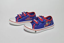 NEWCASTLE KNIGHTS NRL JUNIOR FOOTY FEET KIDS CANVAS SHOES WITH STRAPS SZ K7-K12