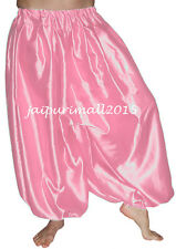 Pink Belly Dancing Satin Harem Pants Yoga Genie Aladdin Harem Trouser Boho Pants