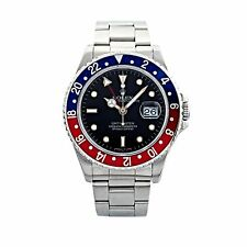 Rolex Oyster Perpetual Date GMT Master Pepsi Blue Red Bezel 16700 40mm SS Oyster
