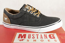Mustang Fabric Lace up Sneakers Low Shoes black, Rubber sole 1225 NEW