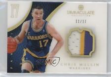 2012 Panini Immaculate Collection Jersey Number #32 Chris Mullin Basketball Card
