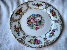 "ROSENTHAL CHINA - SELB BAVARIA - LARGE 10 3/4"" PLATE WITH FLORAL AND GOLD DESIGN"