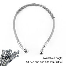 Universal 39-70cm Motorcycle Bike Brake Oil Hose Line Stainless Steel Braided DH