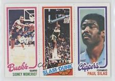 1980 Topps #SMLSPS Sidney Moncrief Lonnie Shelton Paul Silas Milwaukee Bucks RC