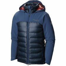 COLUMBIA MENS M, XL HEATZONE 1000 TURBODOWN OMNI HEAT INSULATED DOWN JACKET