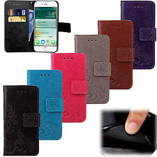 Patterned PU Leather Magnetic Flip Card Wallet Cover Case For Apple iPhone