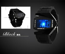 Multi-function Unisex Electronic Aircraft Wrist Lover Colorful LED Sport Watch H