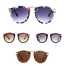 Women Retro Round Resin Frame Outdoor Googles Plastic Lenses Sunglasses Eyewear