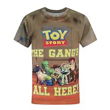 Toy Story Childrens/Boys Official The Gangs All Here T-Shirt