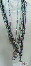 Beaded Lanyards Jewelry Handmade Romantic Bling Studio Aqua Black Purple Blue