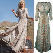 Stylish Women Chiffon Summer Boho Long Maxi Evening Party Dress Beach Dress