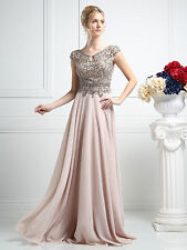 Cinderella Divine Style CR721 Prom 2017 Collection Capped Sleeves Beaded Bodice