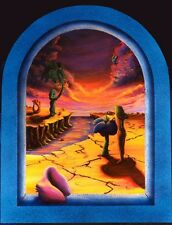 "Trippy Surrealism Blacklight Poster ""Surreal Sunset"", by Vincent Monaco signed"