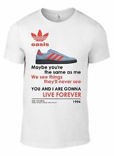OASIS Live Forever Manchester Trainer T-SHIRT ALL SIZES glory noel stone roses W