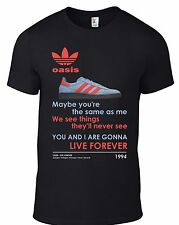 OASIS Live Forever Manchester Trainer T-SHIRT ALL SIZES glory noel stone roses B