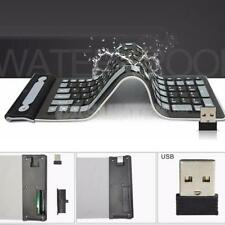 Waterproof 107-Keys USB Silicone Rubber Flexible Foldable Keyboard for PC