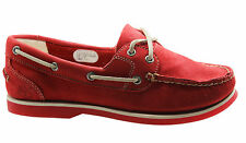 Timberland Classic 2 Eye Womens Boat Shoe Red Nubuck Leather 8866R D28