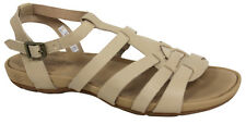 Timberland Earthkeepers Leather Slip On Womens Sandals Cream 8053A U65