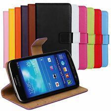 For All Samsung Galaxy Cell Phone Genuine Leather Flip Case Stand Wallet Cover