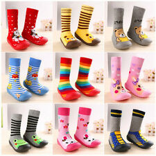 Newborn Anti Slip Baby Cotton Baby Socks With Rubber Soles Infant Socks Shoes ES