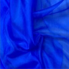 ROYAL BLUE Crystal Organza Voile Polyester Fabric material sold by metre 150cm