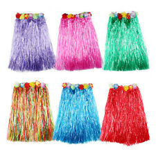 Hawaiian Dress Skirt Hula Grass Skirt With Flower Accessories Lady Costume ESUS