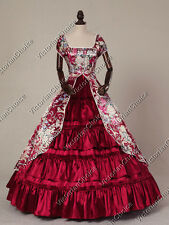 Victorian Belle Civil War Prom Floral Ball Gown Fancy Dress Theatre Clothing 020