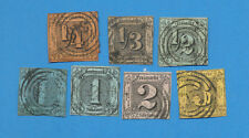 Germany THURN & TAXIS - scott 1-6 used set from 1852-1858 , Northern District