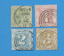 Germany THURN & TAXIS - scott 22, 23, 24 & 25 used Northern District 1865