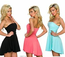 Ladies Mini Dress Cocktail Dress Mullet Party Dress Stretch Dress Bandeau Dress