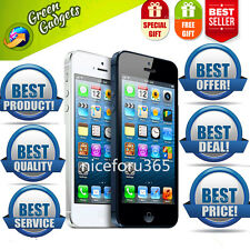 APPLE IPHONE 5/4s -16-32-64GB WHITE & BLACK SIM FREE SMARTPHONE IN 6CONDITION