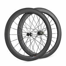 60mm Depth 23mm Width Clincher Carbon Bicycle Wheels Road Bike Wheelset In Stock