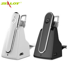 Zealot E5 Wireless Headset Handsfree Earphone with Mic For MP3 Car Kit with Dock