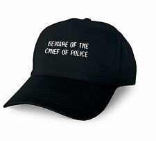 BEWARE OF THE CHIEF OF POLICE PERSONALISED BASEBALL CAP CHIEF OF POLICE XMAS GIF