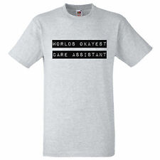 WORLDS OKAYEST CARE ASSISTANT T SHIRT RETRO CARE ASSISTANT GIFT TEE