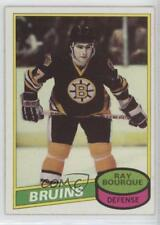 1980-81 Topps Scratched #140 Ray Bourque Boston Bruins RC Rookie Hockey Card