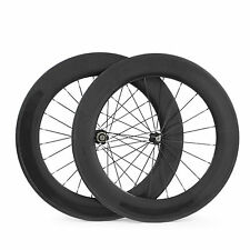 23mm Width 88mm Depth Tubular Clincher Carbon Bicycle Wheels Road Bike Wheelset