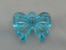 23x30mm 5/10/../50pcs CLEAR SKY BLUE ACRYLIC PLASTIC BOW TIE CHARMS T07968