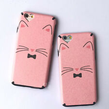 New PC Hard Phone Case Cover For iPhone 6 7 Plus Fashion Heart Camera Cute Cat
